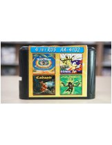 Игра 16bit Сборник (4в1) Tiny Toon, Sonic the Hedgehog, Cadash, Alien 3