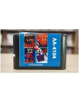 Диск Игра 16bit Сборник (4в1) Double Dragon, Bare Knuckle, Double Dragon II: The Revenge, EA Hockey