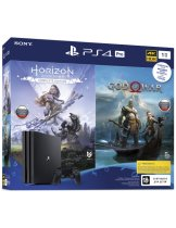 Приставка Sony PlayStation 4 Pro 1TB РОСТЕСТ (CUH-7208B) + Horizon Zero Dawn: Complete Edition + God of War