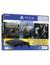 Приставка Sony PlayStation 4 Slim 1TB POCTECT, черная (CUH-2208B) + игра Days Gone + игра God of War + игра The Last of Us + PS Plus 3 месяца