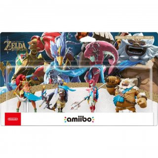 Диск Amiibo комплект Daruk, Mipha, Revali, Urbosa (Урбоса, Ревали, Мифа, Дарук) (The Legend of Zelda)
