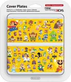 Диск Faceplate (лицевая панель) New Nintendo 3DS (Super Mario Maker Pixel amiibo)