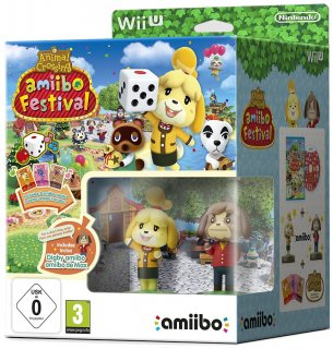 Диск Animal Crossing: amiibo Festival +  2 фигурки amiibo (Isabele & Digby) [Wii U]