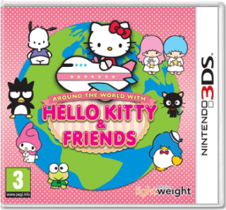 Диск Around The World with Hello Kitty and Friends [3DS]