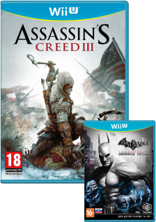 Диск Assassin's Creed 3 + Batman Arkham City Armoured Edition [Wii U]