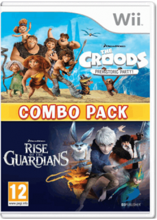Диск Combo pack: The Croods prehistoric party + Rise of the Guardians (Хранители Снов) [Wii]
