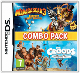 Диск Combo Pack: Madagascar 3 (Мадагаскар) Europe`s Most Wanted + The Croods prehistoric party [3DS]
