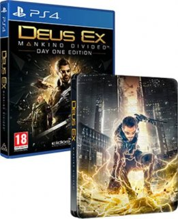 Диск Deus Ex Mankind Divided - Day One Edition (SteelBook) (Б/У) [PS4]