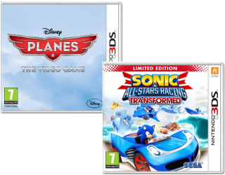 Диск Disney's Planes + Sonic & All-Star Racing Transformed - Limited Edition [3DS]