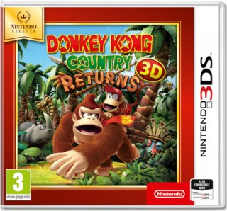 Диск Donkey Kong Country Returns [Nintendo Selects] (Б/У) [3DS]