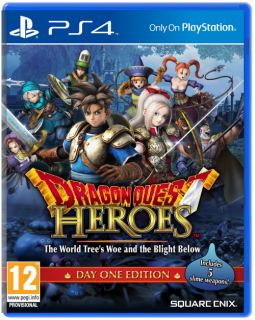 Диск Dragon Quest Heroes: The World Tree's Woe and The Blight Below (Б/У) [PS4]