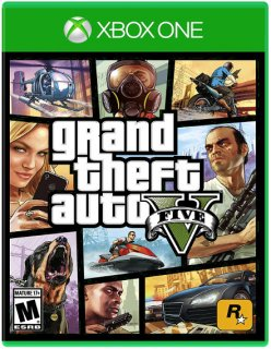 Диск Grand Theft Auto V (GTA 5) (US) (Б/У) [Xbox One]