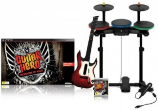 Диск Guitar Hero: Warriors of Rock Super Bundle (Игра + Гитара + Барабаны + Микрофон) [PS3]