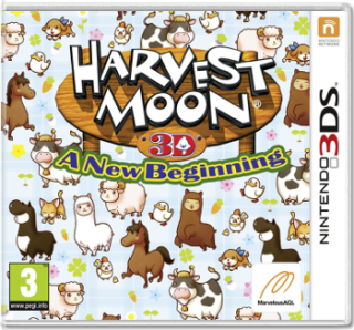 Диск Harvest Moon: a New Beginning [3DS]