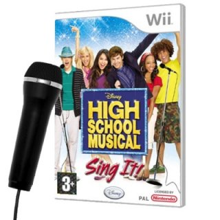 Диск High School Musical: Sing It + микрофон [Wii]