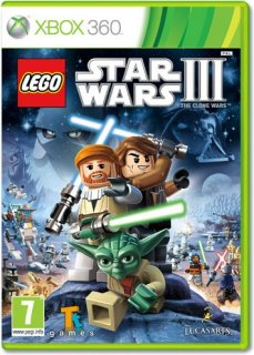 Диск LEGO Star Wars III: The Clone Wars (Б/У) [X360]