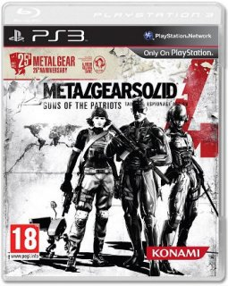 Диск Metal Gear Solid 4: Guns of the Patriots (Б/У)  (обложка 1) [PS3]