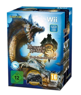 Диск Monster Hunter 3 (Tri) Classic Controller Pro Pack [Wii]