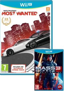 Диск Need for Speed Most Wanted 2012 + Mass Effect 3 - Special Edition [Wii U]
