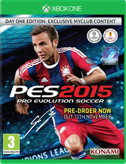 Диск Pro Evolution Soccer 2015 - Day One Edition [Xbox One]