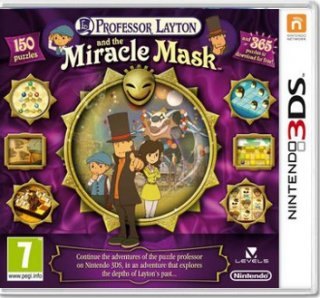 Диск Professor Layton and the Miracle Mask (Б/У) [3DS]