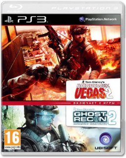 Диск Tom Clancy's Rainbow Six Vegas 2 & Tom Clancy's Ghost Recon: Advanced Warfighter 2 (Double Pack) (Б/У) [PS3]