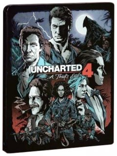 Диск Uncharted 4: Путь вора (A Thief's End) + Steelbook (Б/У) [PS4]