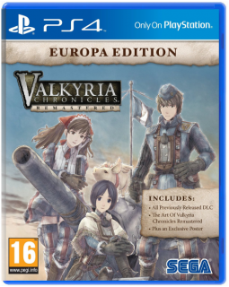 Диск Valkyria Chronicles Remastered Europa Edition [PS4]