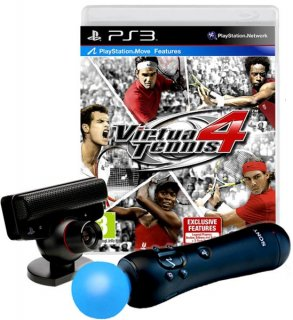 Диск PS Move: Starter Pack (Камера PS Eye + Контроллер движений PS Move + игра Virtua Tennis 4)