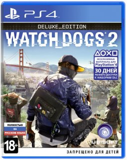 Диск Watch Dogs 2 - Deluxe Edition [PS4]