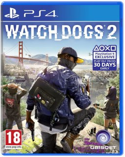 Диск Watch Dogs 2 (Англ. Яз.) (Б/У) [PS4]