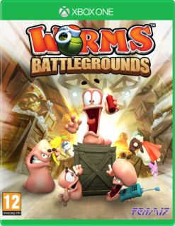 Диск Worms Battlegrounds (Б/У) [Xbox One]