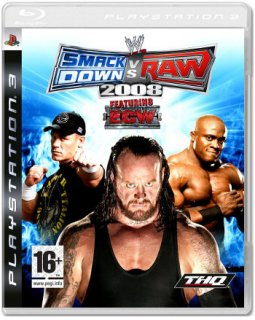 Диск WWE SmackDown! vs. Raw 2008 (Б/У) [PS3]