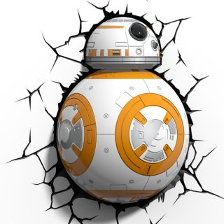 Диск Декоративный LED светильник 3D-Light-FX (3D Star Wars - BB-8)