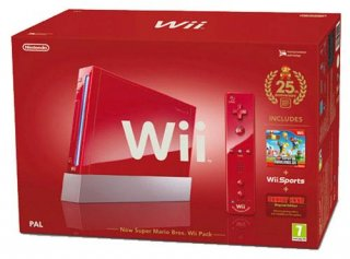 Диск Nintendo Wii /красный/ + Wii Sports + New Super Mario Bros.