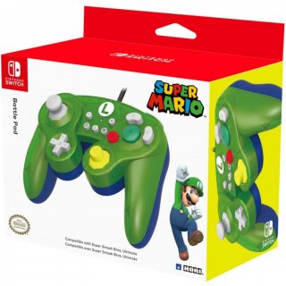 Диск Nintendo Switch Геймпад Hori Battle Pad (Luigi) для консоли Switch (NSW-136U)