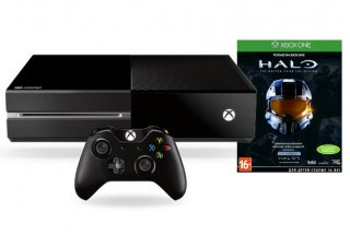 Диск Microsoft Xbox One 500Гб (без Кинекта) (РОСТЕСТ) + игра Halo: The Master Chief Collection (русские субтитры)