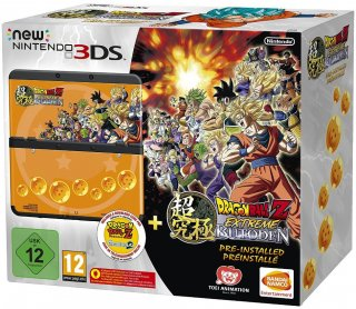 Диск New Nintendo 3DS (чёрная) + игра Dragon Ball Z: Extreme Butoden