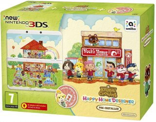 Диск New Nintendo 3DS (белая) + игра Animal Crossing: Happy Home Designer