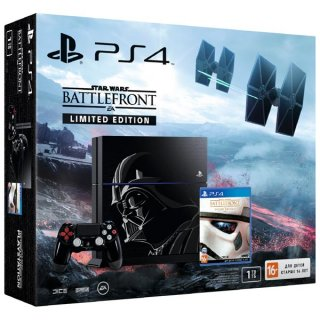 Диск Sony PlayStation 4 1TB Black Limited Edition + Star Wars Battlefront Deluxe (CUH-1208B) РОСТЕСТ