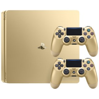 Диск Sony PlayStation 4 Slim 500GB, Gold Edition (CUH-2008A) + 2-й джойстик Dualshock 4