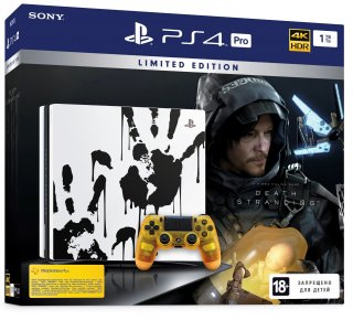 Диск Sony PlayStation 4 Pro 1TB (РОСТЕСТ) Death Stranding Limited Edition (CUH-7208B)