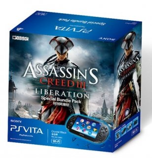 Диск Sony PlayStation Vita Wi-Fi Black Rus (PS Vita Model 1008) + PSN код активации Assassin's Creed III Освобождение + Карта памяти 4 Гб РОСТЕСТ