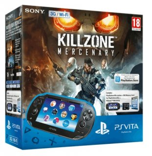 Диск Sony PlayStation Vita 3G / Wi-Fi Black Rus (PS Vita Model 1008) + PSN код активации Killzone Наёмник + Карта памяти 8 Гб