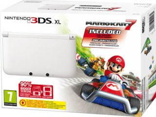 Диск Nintendo 3DS XL HW White /белая/ (РОСТЕСТ) + Mario Kart 7