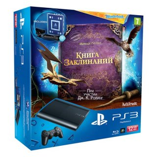 Диск Sony PlayStation 3 Premium 12Gb + игра Wonderbook: Книга заклинаний + PS Move: Starter Pack (РОСТЕСТ)