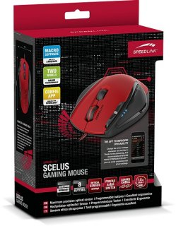 Диск Speedlink Мышь проводная Scelus Gaming Mouse black-red (SL-680004-BKRD)