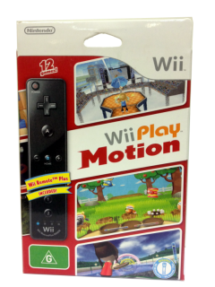 Диск Nintendo Wii Remote Plus (чёрный) + игра Wii Play