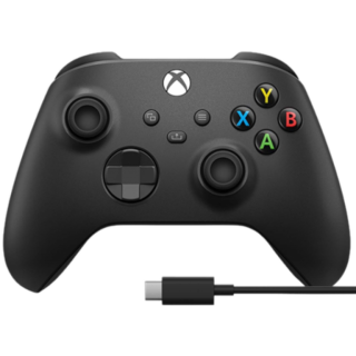 Диск Xbox Wireless Controller – Carbon Black + USB-C Cable (1V8-00008)