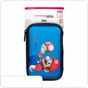 Чехол синий для Nintendo 3DS / 3DS XL / New 3DS XL (Марио Гриб)